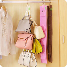 4 Hooks Handbag Purse Bag Holder Shelf Hanger Hanging Rack Storage Organizer