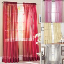 Multi-Styles Door Window Curtains Drape Panel or Scarf Assorted Scarf Sheer Voile Curtains For Bedroom