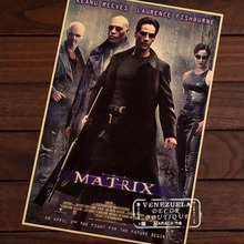 The Matrix concept of machine Sci-Fi Movie Film Vintage Retro Decorative Frame Poster DIY Wall Stickers Home Posters Home Decor