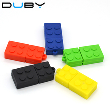 building block USB Flash Drive 2.0 cartoon usb stick Toy block series pen drive 4GB/8GB/16GB/32GB novelty pen drive(China)