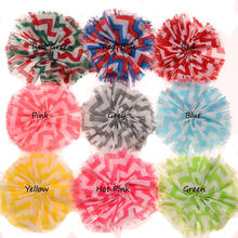 9PCS Stripe Chiffon Sewing Flower Wedding Decoration Raw edge Hair Flower Without Hairclip for Hair accessories(China)