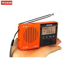 TECSUN Radio PL118 Ultra-Light Portable Pocket Mini Radio, PLL DSP FM Band Radio Retail-wholesale Tecsun PL-118 Digital Receiver(China)