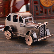 Delicate Classical Vintage Decor Figurine Metal Bubble Car Model Typical Collectible Retro Handicraft Old Car For Home Decor