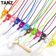 Fashion Universal Detachable lanyard for phone neck Mobile Phone Straps lariat with free shipping(China)