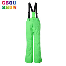 GSOU SNOW Brand Kids Ski Pants Waterproof Children Snowboard Pants Boys and Girls Skis Trousers Winter Children Skiing Trousers(China)