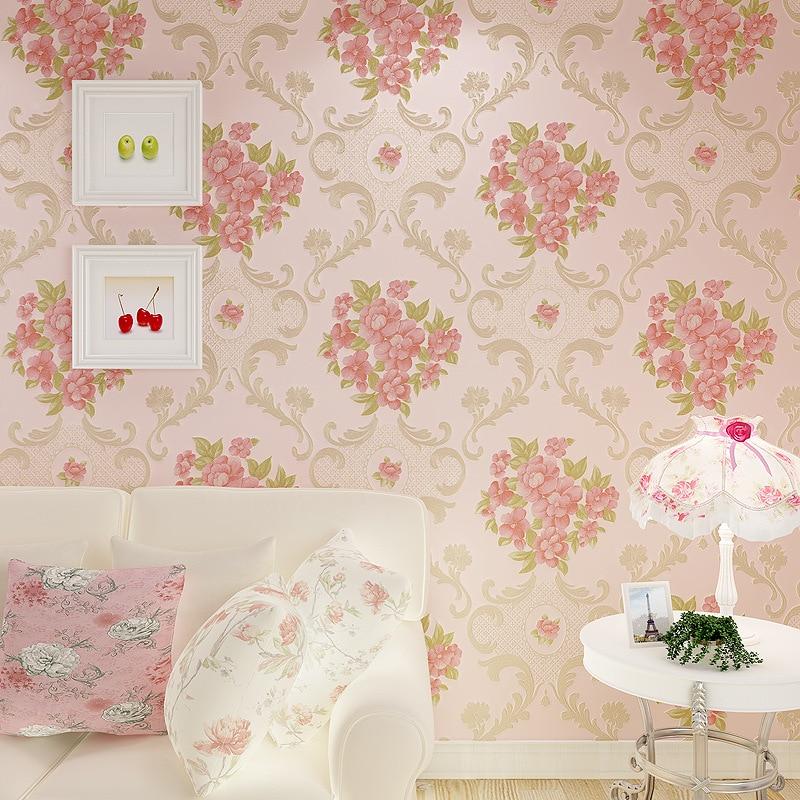 beibehang Fine embossed pastoral wallpaper rolls papel de parede 3D murals damask wall paper roll flooring wallpaper for wall 3d<br>