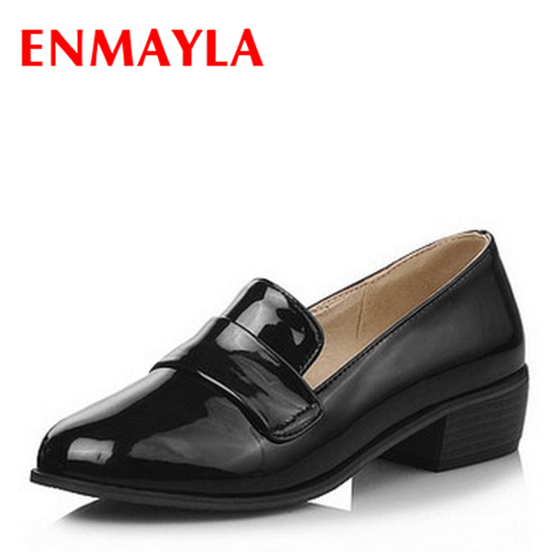 ENMAYLA Flats Shoes Woman Round Toe Slip-on Shoes Women Solid Color Low Heels Topsider Women Casual Spring Autumn Ladies Shoes<br>
