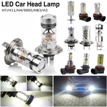 Bright Headlight 12-24V CERR Car LED Light Luminous Bulb Kit High/Low Beam Lamps H3 H4 H7 H11 HB3 Shockproof 600-1000LM LED Bulb