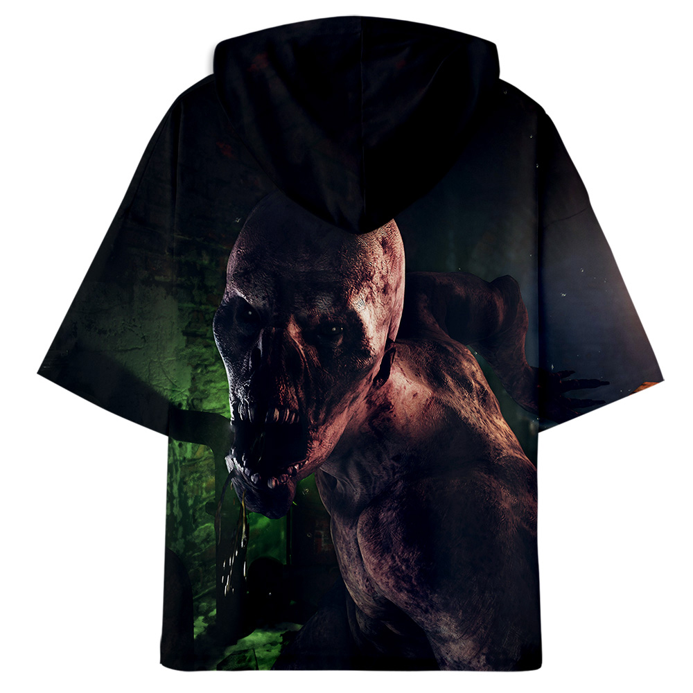 aikooki 3d medrto exodus oversized cool hoodies korean mens T-shirts girls 100% cotton round neck Short Sleeves Tee