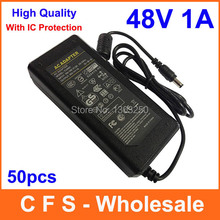 High Quality AC DC Switching Power Supply 48V 1A Adapter 48W Adaptor Desktop Charger FedEx DHL Free shipping 50pcs Lot wholesale(China)