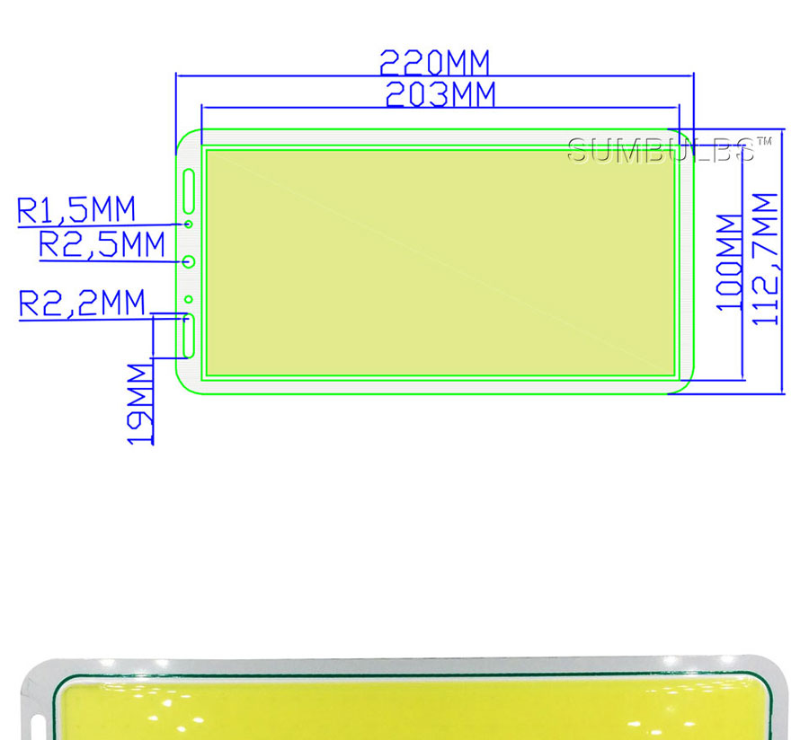 200w led cob light lamp bulb 12v chip on board (1)