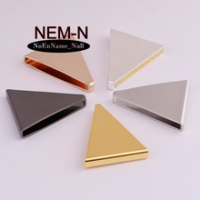 10pcs/lot NEM-N 25*4*21 big Three-dimensional triangle Copper Smooth surface Findings Hollow costume Supplies for jewelry(China)
