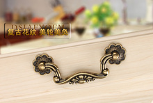 pitch hole 78mm bronze cabinet drawer handles pulls vintage furniture knobs European style hardware wholesale