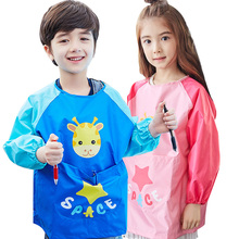 Waterproof Kids Rain Coat Children Drawing Aprons Cartoon Unisex Cleaning Kids Rainwear Kids Waterproof Raincoat Promotion