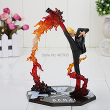 "Cool 6.8"" One Piece Anime Black Leg Sanji Fire Battle Version PVC Action Figure Collection Model Toy Gift(China)"