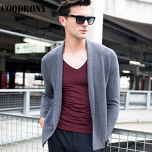 Autumn Winter Thick Warm Long Mens Cardigans Knitted Cashmere Sweater Coats Men Fashion Big Collar Merino Wool Cardigan Men 6341(China)