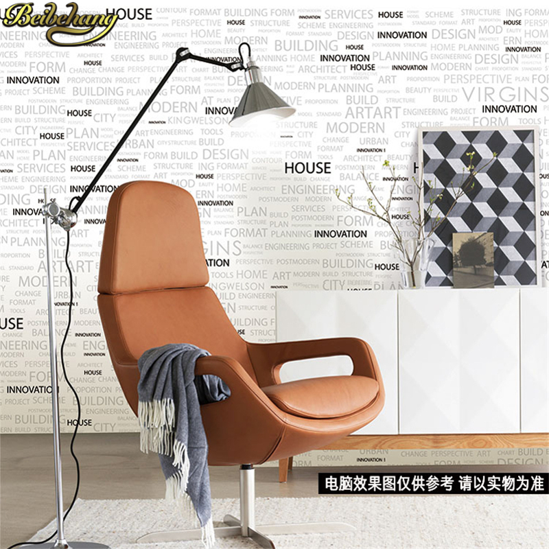 beibehang papel de parede 3D wall paper roll Living room background Hotel KTV Modern white english letter wallpaper for walls<br>