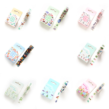 1 PCS Creative Cute 15mmx7m New Plant Flowers Washi Decorative Adhesive Tape DIY Masking Paper Tape Sticker Office Supplies