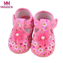 Baby Shoes Baby Flower Boots Soft Crib Shoes for Girls Children Footwear Baby Girl First Walker Shoes Best seller(China)