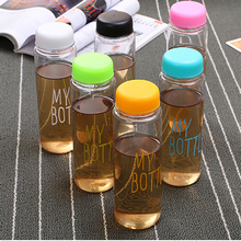 Best Quality My Fashion Breakproof Water Bottle Travel Camping Lemon Juice Drinkware Readily Space Bottle 500ml Best Gift(China)