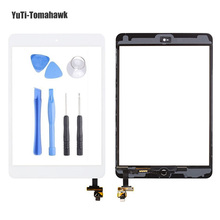 For iPad mini 1/2 mini 3 High Quality Touch Screen Digitizer Assembly with Home Button & Home Flex Cable+ IC Connector + Tools(China)