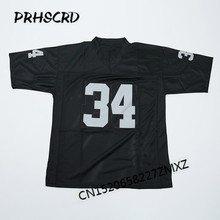 Retro star #34 Bo Jackson Embroidered Throwback Football Jersey(China)