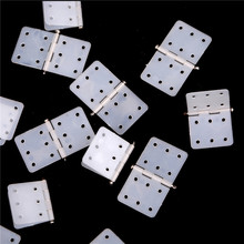 20pcs/lot Nylon Plane Hinge for RC Airplane 16*27mm Dropship Parts Model Replacement Accessories Wholesale