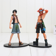 2pcs/set 17cm One Piece Luffy Ace PVC Action Figure Model Toys One Piece Figure