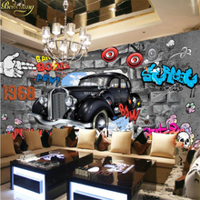 beibehang papel de parede 3D hotot mural wallpaper for walls 3 d Auto Club Car Posters magazine Wallpaper Murals sports cars(China)