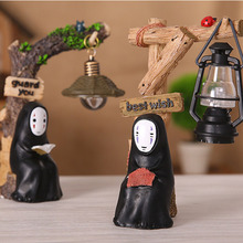 No Face man Miyazaki Ornaments night light Japanese groceries  resin Hand made Crafts Study Lamp for Kids Gift Spirited Away