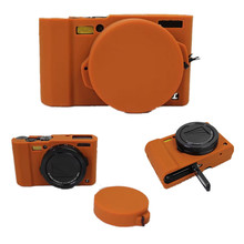 Black/Light Brown/Green Silicone Case Rubber Camera Bag For Panasonic Lumix LX10 L-X10 Protective Body Cover(China)