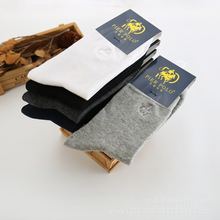 PIER polo socks Hot autumn new all-match male POLO socks Cotton classic casual socks business Embroidery Calcetines Hombre Sox