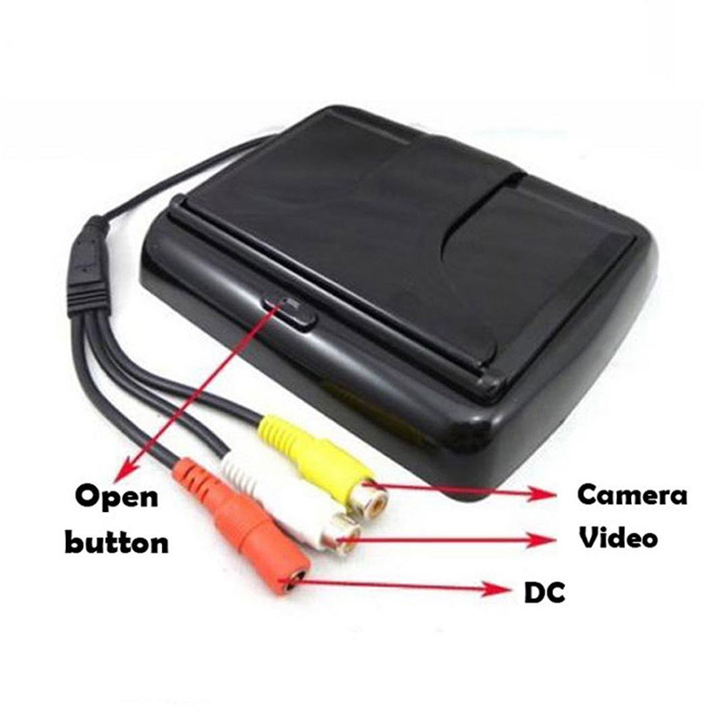 4.3 Inch Foldable Rearview Car Monitor Screen for Rear View Camera (7)