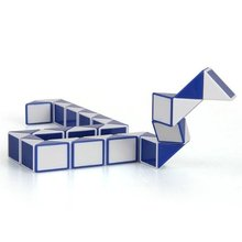 LeadingStar LeadingStar 36PCS Blue and White Magic Ruler Cube Twist Snake Folding Puzzle Kids Educational Toy Gift