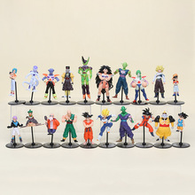 10pcs/set  Dragon Ball Z GT Action Figures Crazy Party 10CM Cell/Freeza/Goku PVC Dragonball Figures Best Gift