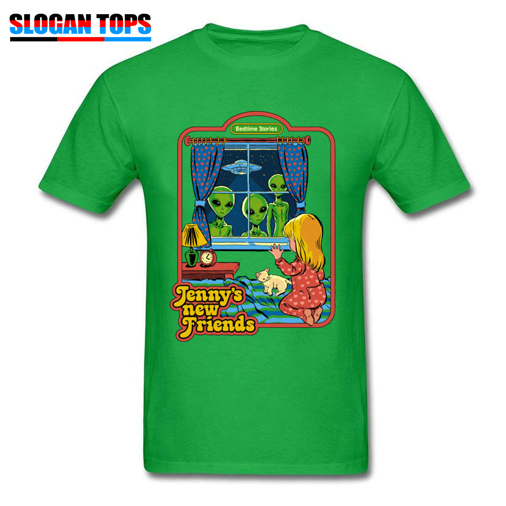 Jennys-New-Friends 100% Cotton Funny T Shirt Rife Short Sleeve Mens Tshirts Casual NEW YEAR DAY T-shirts Crew Neck Jennys-New-Friends green