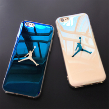 Fashion i6 6s case Blu-ray laser Ultra Thin NBA 23 Michael Jordan TPU Soft Case For iphone 6 6s Plus 7 7plus Case Back Cover(China)