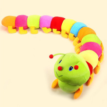 1Pcs 50cm Baby Toys Colorful Caterpillars Millennium Bug Doll Plush Toys Large Caterpillar Pillow Doll toys