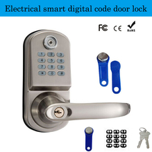 Hotel/Apartment Electrical smart digital code door lock with remote control TM card unlock electronic sensors with smart card(China)