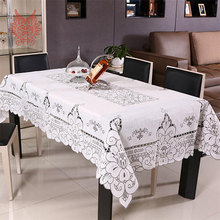 Pastoral style hot sale Table Cloth Pierced Dining Table Cover Home Textile white table runner SP1503