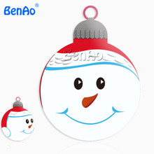 AA006 BENAO Free shipping PVC Christmas inflatable snowman head balloon / inflatable santa claus helium balloon for parade event(China)