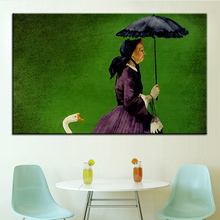 Large size Printing Oil Painting granny gets a goose Wall painting Wall Art Decoration Picture For Living Room painting No Frame