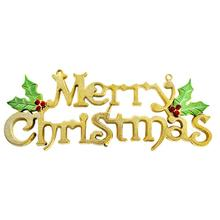 19/24/30cm Christmas Tree Decoration Shiny Merry Letter Card Xmas Hanging Ornament Party Supplies - BESTOYARD Official Store store