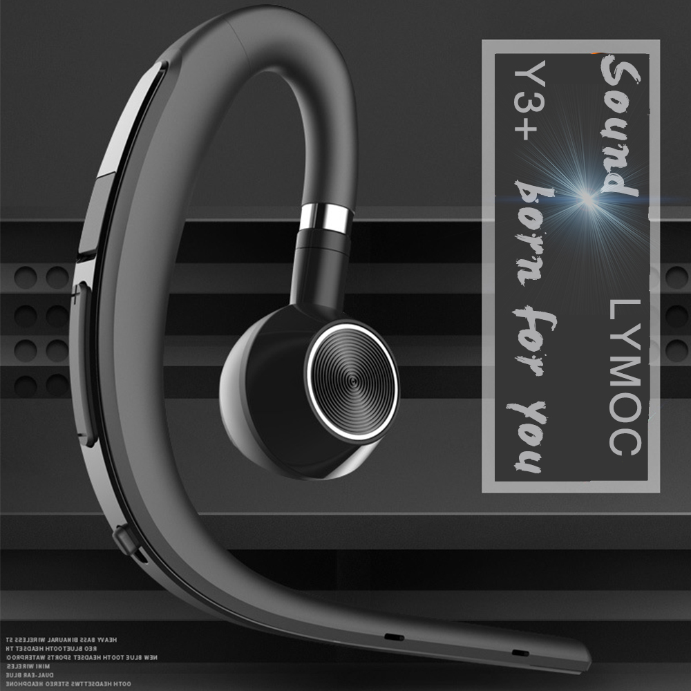 Lymoc Upgrade Y3+ Bluetooth Earphone Handsfree Ear Hook Wireless Headsets V4.1 Noise Cancelling HD Mic Music For iPhone Huawei 1