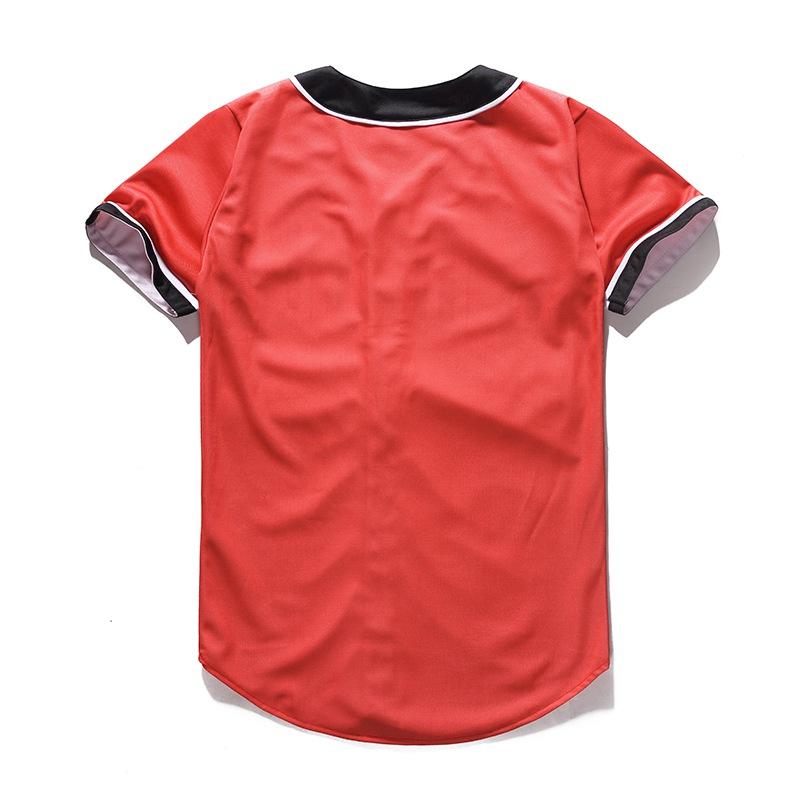 Mr.1991INC Brand Red T-shirt Mens Button Shirt Fashion Women Men Hip Hop Baseball Team Jersey Summer Casual 3D Tee Shirts Homme (2)