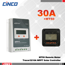 Tracer3210A+MT50 30A 12V/24 100V solar controller with MT50 remote meter control, Solar Regulator timer and lighting control