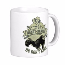 Honey Badger Don'T Care White Coffee Mugs Tea Mug Customize Gift By LVSURE Ceramic Mug Travel Coffee Mugs