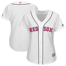 MLB Women's Boston Red Sox White Mother's Day Cool Base Replica Team Jersey(China)