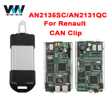 (2pieces/lot)For Renault CAN Clip with AN2135SC/AN2131QC V160 Diagnostic Interface for Renault OBD OBD2 diagnostic Scanner Tool