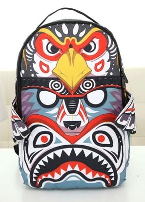2015 NEW Owl face backpack handwriting wing wings female bags canvas girls women preppy backpacks teenagers casual school bag<br><br>Aliexpress